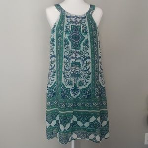AUW Dress Shift Boho Sundress